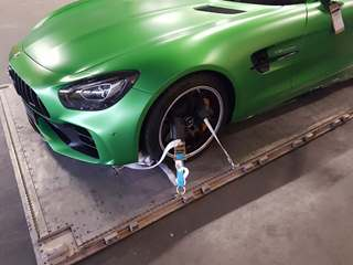 Mercedes-AMG GT R safely secured