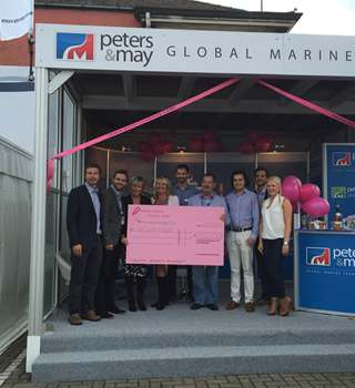 Southampton Boat Show cheque presentation for the charity