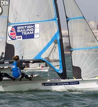 British Sailing Team on the water