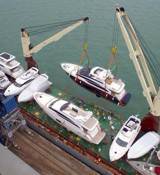 Peters & May loading Superyachts ahead of Mediterranean Sailing