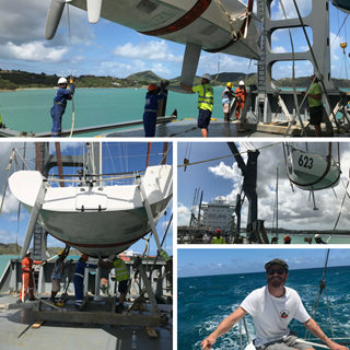 Peters & May shipping Mini Transat Racing Yacht for first time customer UK to Caribbean - Collage