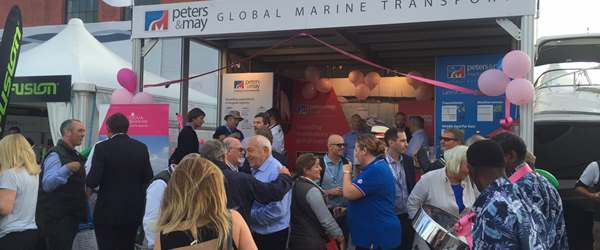 Caribbean Party at Peters & May stand - Southampton Boat Show