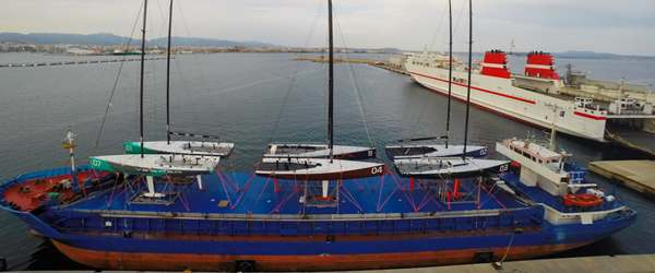 Full vessel transporting Racing Fleet