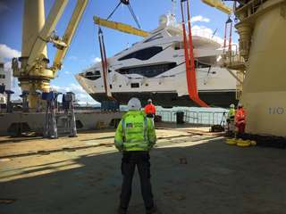 Sunseeker 131 Superyacht Shipped from Southampton to the Mediterranean