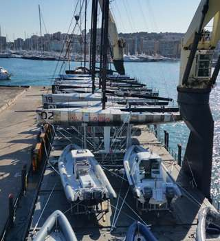 TP52 Fleet onboard vessel at Palma bound for Sibenik 2018