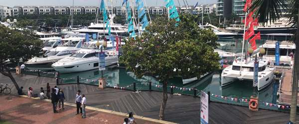 Yachts being exhibited at Singapore Yacht Show 2019