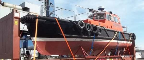 Commercial Pilot Boat ready for shipment