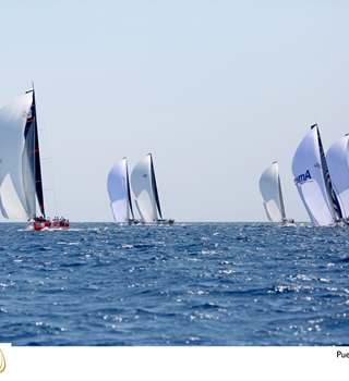 52 Super Series Puerto Portals - yachts racing on the horizon