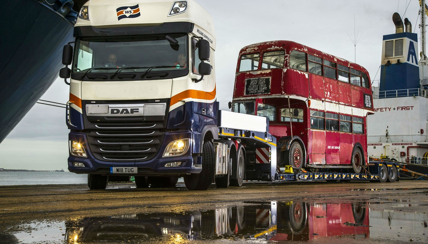 Automotive Transport - Double Decker Bus from USA to UK