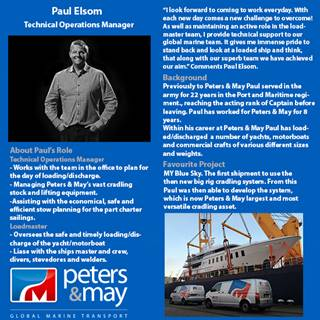 Find out more about Technical Operations Manager Paul Elsom