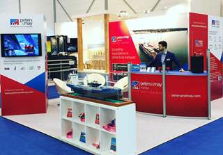 Peters & May exhibition stand at Dusseldorf Boat Show 2017