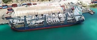 52-yachts loaded on MV Kingfisher Vessel at Antigua Port