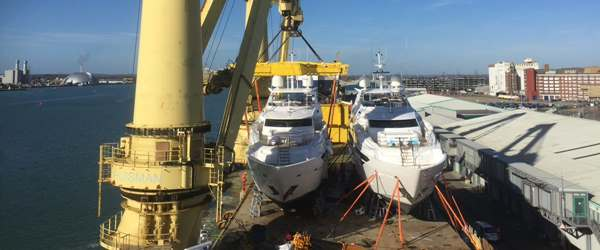 Peters & May Ship Sunseeker 131 Superyachts from Southampton Port