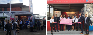 Peters & May Caribbean Party and Charity Donation Southampton Boat Show 2018