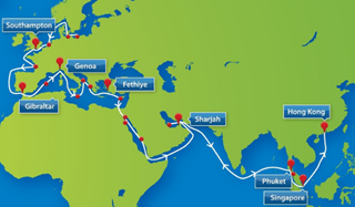 Middle East/Far East Sailings Map