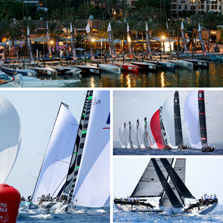 52 SUPER SERIES Puerto Portals Yacht Racing Collage