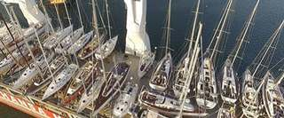 Full Deck of 45-yachts on board a Caribbean Sailing from Antigua to Southampton