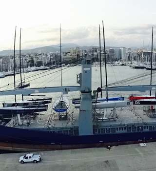 9 TP52's loaded in Palma