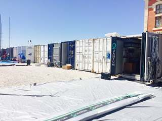 Containers unloaded by our Racing Logistics teams -52 Super Series