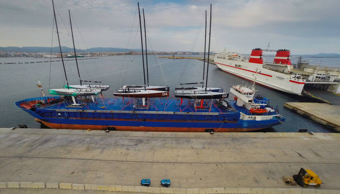 TP52 fleet expertly loaded in Palma