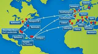 Peters & May Caribbean Sailings Map