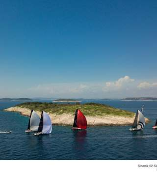 52 SUPER SERIES participants sailing - Sibenik Sailing Week 2018