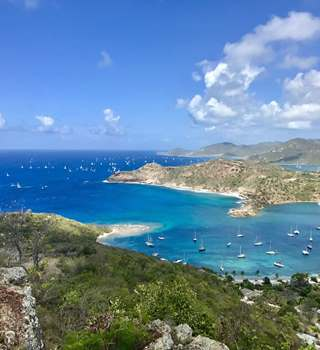 Antigua Sailing Week view from Shirley Heights