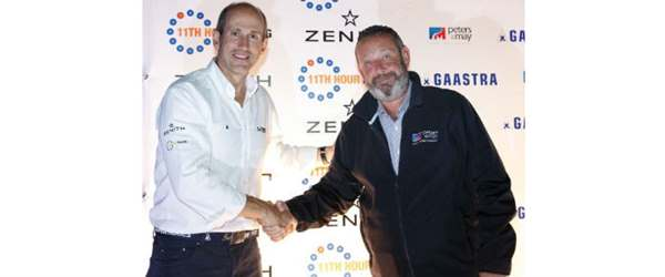 52 Super Series and Peters & May shaking hands following signing sponsorship deal