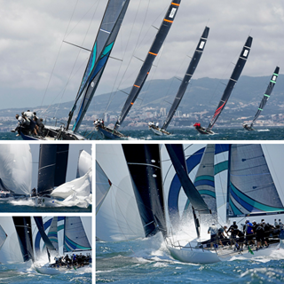 TP52 Fleet Racing in Cascais - Collage