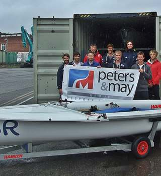 Peters & May British Sailing Team container loading for Japan Aug 2017