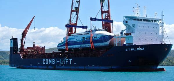 52m Ferry shipped from New Caledonia, South Pacific to Piraeus, Greece.