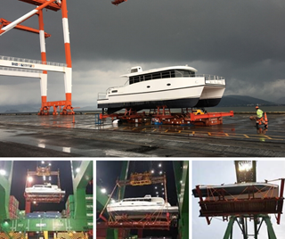 Collage of Flat Rail shipment from the Philippines