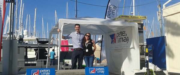 Stand all set up at the Palma Boat Show