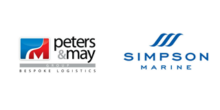 Peters & May Logo and Simpson Marine Logo