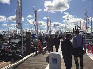 Boats on water - Southampton Boat Show 2017