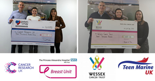 Peters & May Foundation present cheques to Cancer Research UK & Wessex Cancer Trust